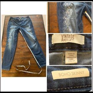 Vintage America Jeans Boho Skinny Size 12R/31